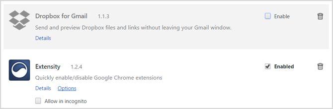 Gestor de Extensiones Chrome