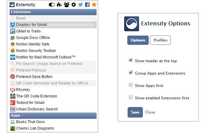 Extensidad extensión de Chrome