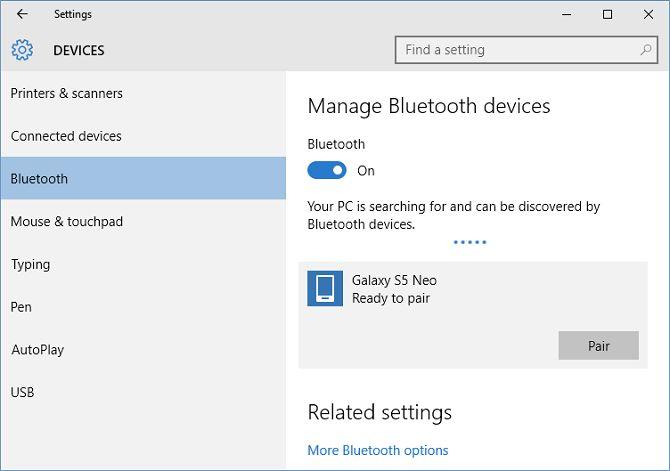 Windows 10 emparejamiento Bluetooth
