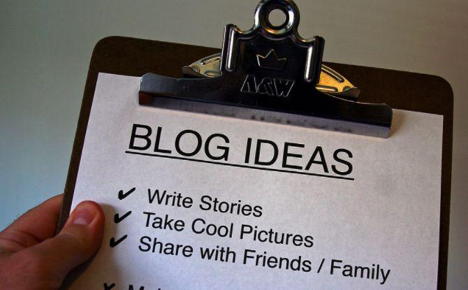 Lista de ideas de blog