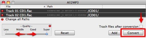 convertir FLAC a MP3