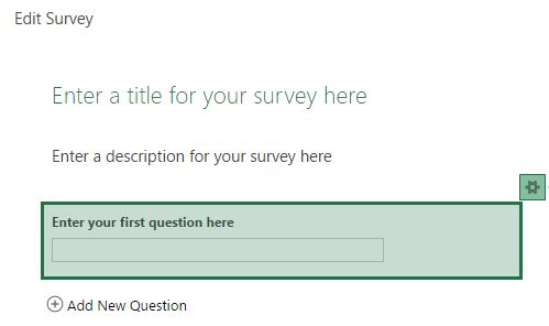 Diseño de la encuesta Excel