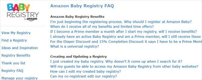 Amazonía Preguntas Frecuentes registro del bebé