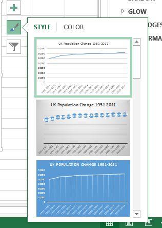 Estilos predefinidos Excel
