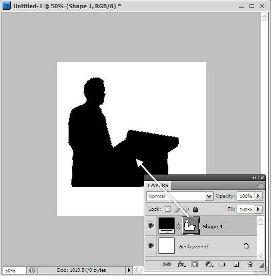 la creación de una silueta en photoshop