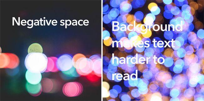 ejemplos de texto espacio negativo