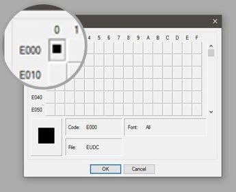 Carácter privado Editor - Código