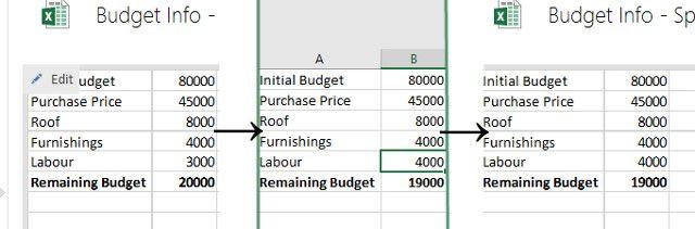 ediciones de Excel