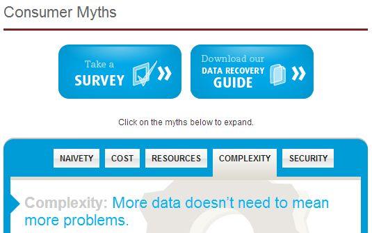 Recuperación de Datos mitos de consumo