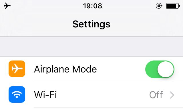 Avión-Mode-iPhone