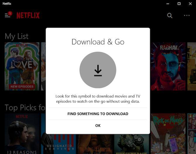 Netflix descargar e ir logo