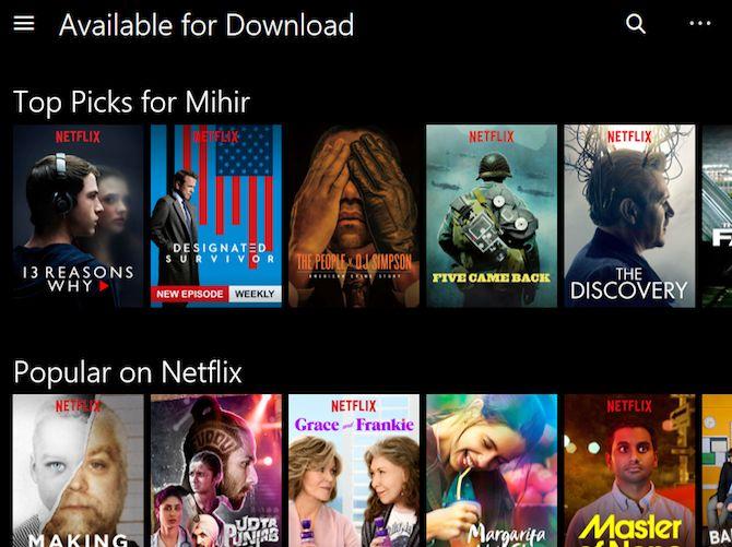 Netflix disponibles