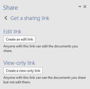 obtener un enlace para compartir