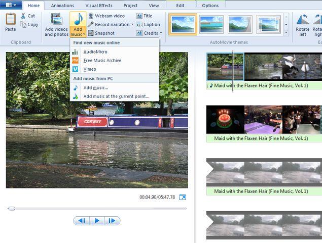 -archivos de Windows Movie-Maker-Importación