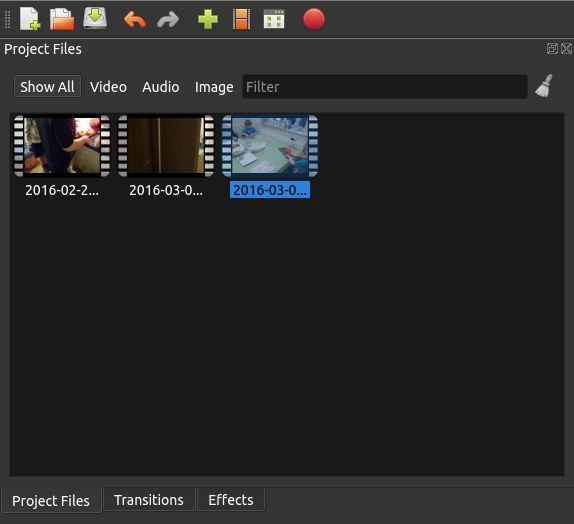 Linux 2.0 OpenShot Archivos