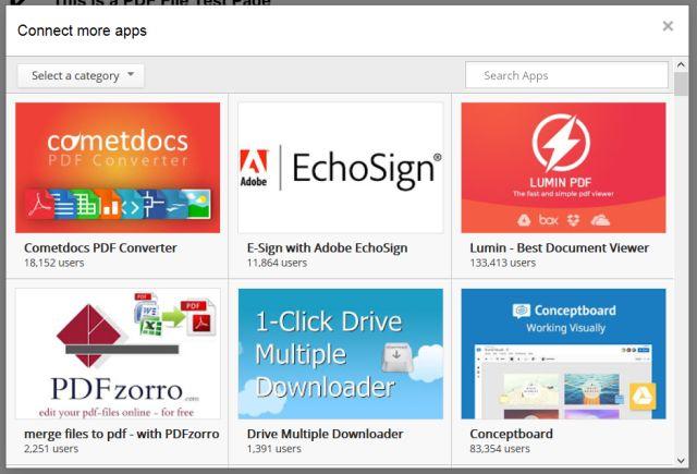 google-drive-Connect-PDF-aplicaciones