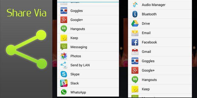 Cómo editar y limpiar el menú compartir de android: ninguna raíz requiere