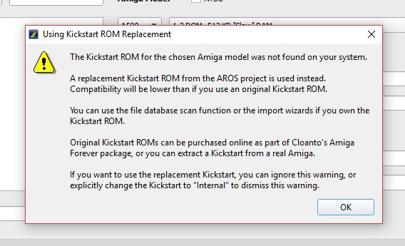 Amiga Kickstart Emulación