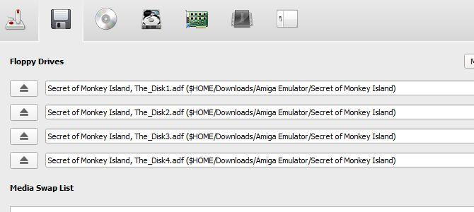 Los discos amiga de emulación