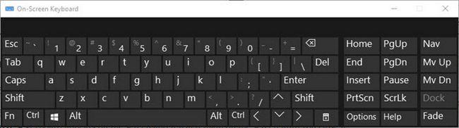 Windows 10 Teclado en pantalla