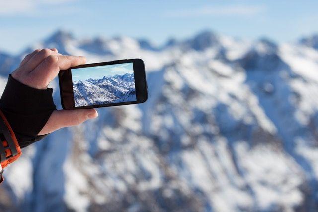 Montañas foto tomada con un teléfono inteligente