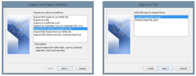 OutlookImport-Start