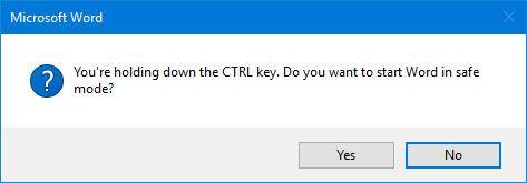 Iniciar Microsoft Word en modo seguro