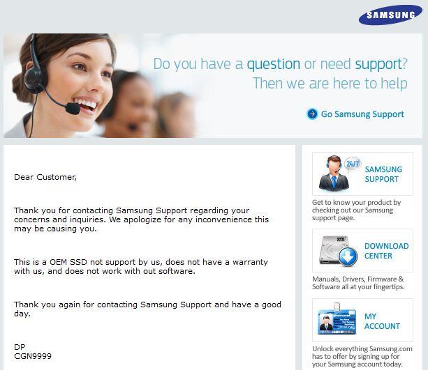 Samsung responde