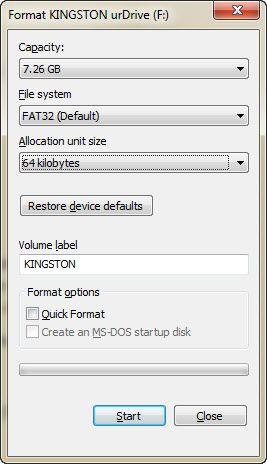 fix protección contra escritura en USB