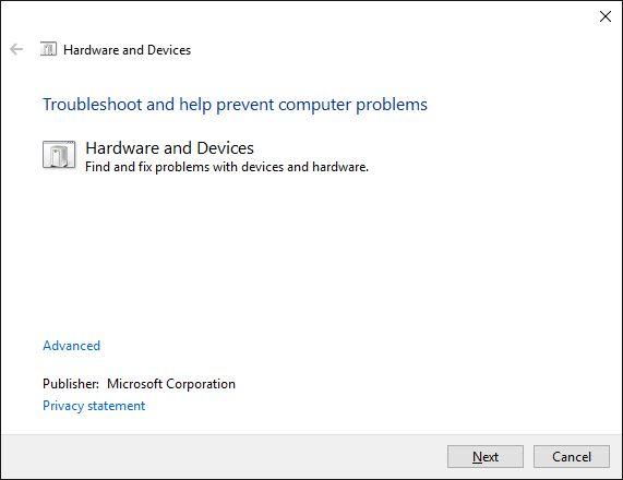 solucionar problemas de hardware y dispositivos