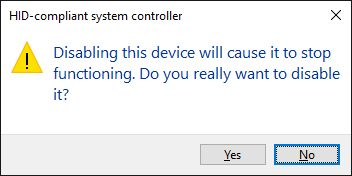 desactivar el controlador de dispositivo