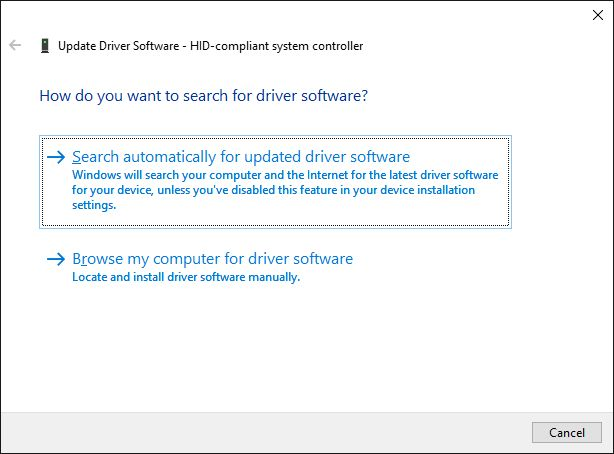 actualización de software del controlador