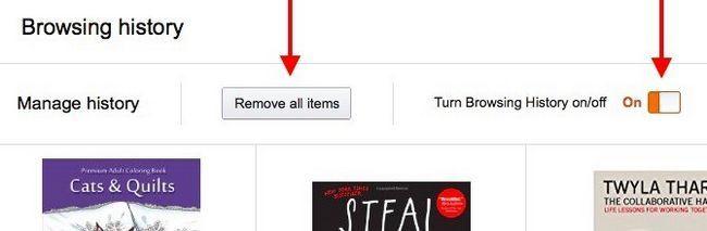Amazon Quitar todos los elementos