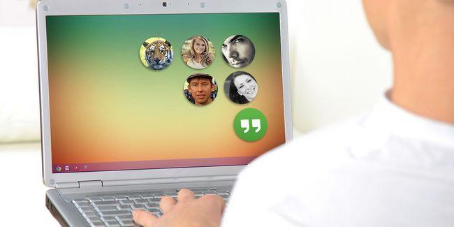 Como llegar cabezas estilo de chat de facebook para lugares de reunión en cromo