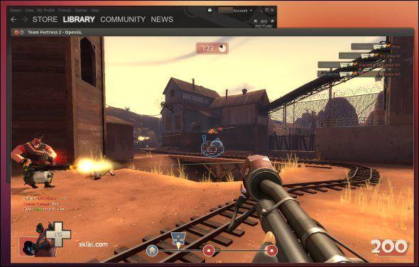 Team Fortress 2 y vapor para Linux