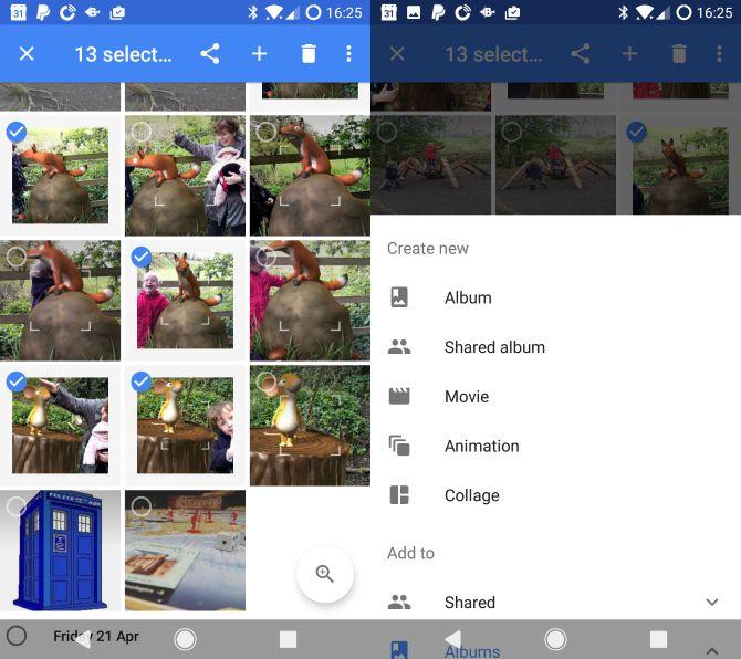 Google Fotos Android seleccionar