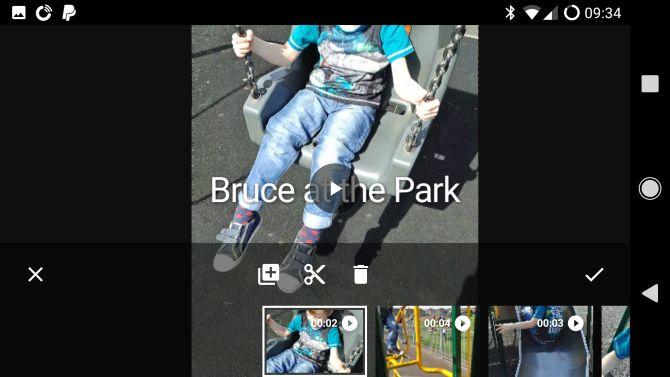 Google Android película de fotos