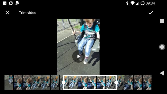 Google Fotos Android recortar