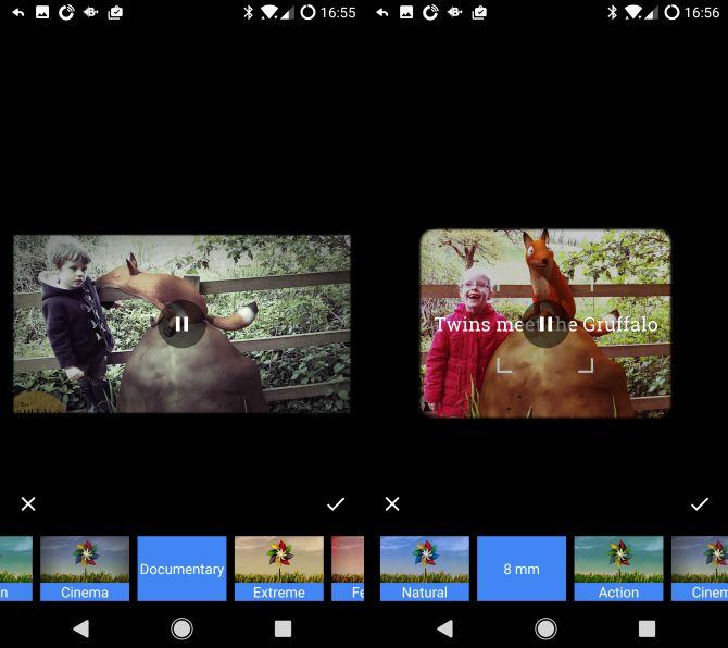 Google Android estilos fotos