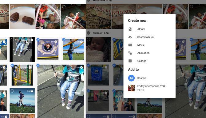 Google fotos ios seleccionar