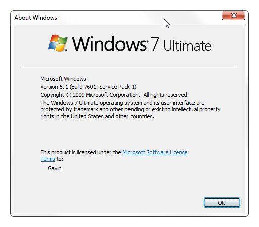 Winver Windows Versión