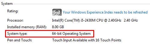 Windows 7 System Info
