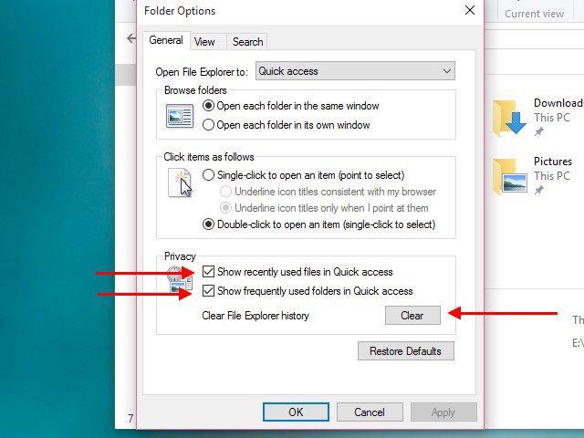 desactivar-Quick-ACCESS de datos