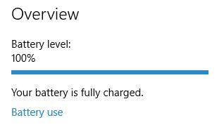 Windows 10 Resumen de la batería
