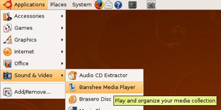 menú de sonido y video en ubuntu