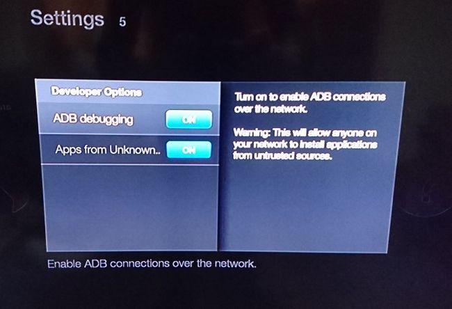 Kodi en el fuego de TV Stick - Configuración de fuentes desconocidas