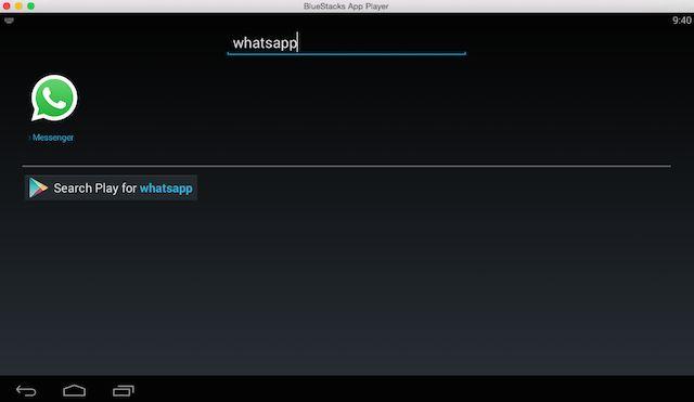 BlueStacks-WhatsApp búsqueda