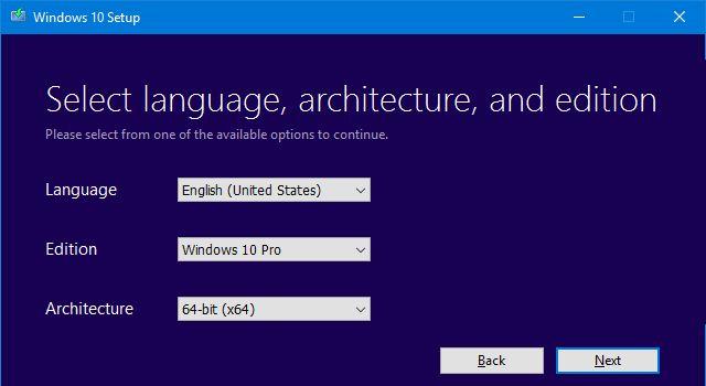 Los archivos de instalación de Windows 10