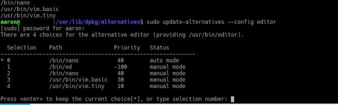 alternativas de actualización del editor de configuración