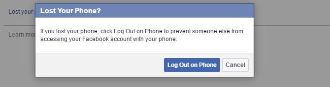 Facebook Perdida de teléfono